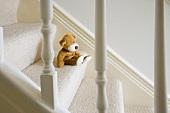 Stofftier auf Treppe