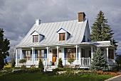 A house with a veranda