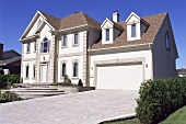 A large house with a driveway