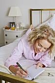 A woman writing