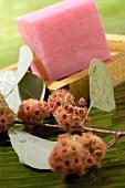 Pink soap and eucalyptus blossom