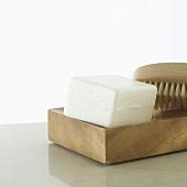 Nail brush and soap