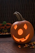 Pumpkin lantern and sweets for Halloween