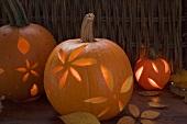 Atmospheric pumpkin lanterns