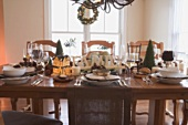 Table laid for Christmas (USA)