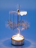 Christmas mobile over tea light