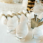 Napkins for a festive table