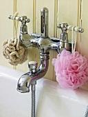 Retro-style bath taps