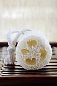 ^Loofah sponge, close-up