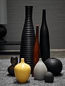 Still-life arrangement of vases