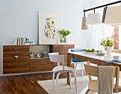 Dining room with Thonet chairs and sideboard
