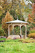 A wooden pavilion in a park, Heilbronn