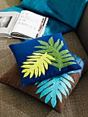 Scatter cushions with appliqu