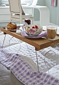 Breakfast on a bed tray