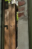 A door frame and a garden fence (detail)