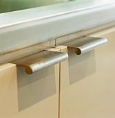Stainless steel cupboard door handles