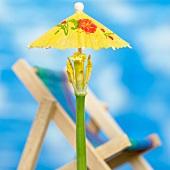 Tulpen-Sonnenschirm mit Klappstuhl