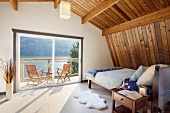 Master Bedroom View in a Northwest Pacific House