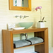 An orchid on a wash stand