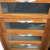 Glazed drawers (detail)