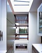 Designer kitchen with open serving hatch
