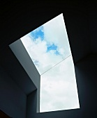Modern architecture with skylight and view of sky