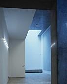 Empty bedroom in contemporary building