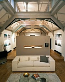 Loft-style living space in Art Nouveau factory