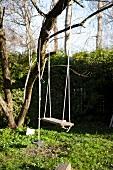 A swing in a garden