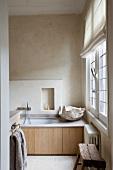 Simple bathroom in modern style