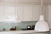 Retro pendant lamps with white shades