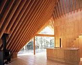 Elegant wooden house