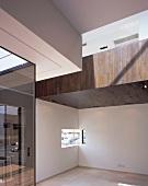 View of corner with narrow window