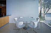 Dining area with round table & chairs