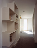 Made-to-measure modern shelving in hallway