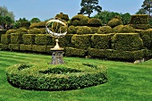 Chess pieces topiary in garden of Hever Castle, Kent, England
