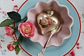 Decorative heart with roses