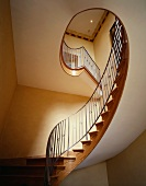 Stairwell with curved Art Nouveau staircase
