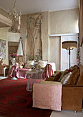 Traditional living room in country house