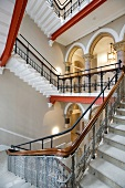Impressive stairwell in neo-Gothic building