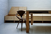 Bauhaus-period wooden chair at modern kitchen table
