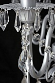 Chandelier hung with glass bead ornaments