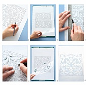 Crafts - sheets of paper with patterns for cutting out