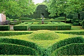 Spectacular gardens with topiary hedges and arranged paths, an example of landscape gardening