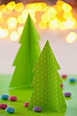 Paper fir tree Christmas decorations
