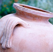 Simple terracotta vase