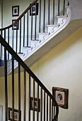 Staircase in English manor house