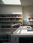 Private library with desk