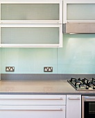 Kitchen unit with gas hob (detail)