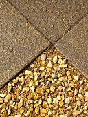 Gravel and exposed aggregate concrete slabs